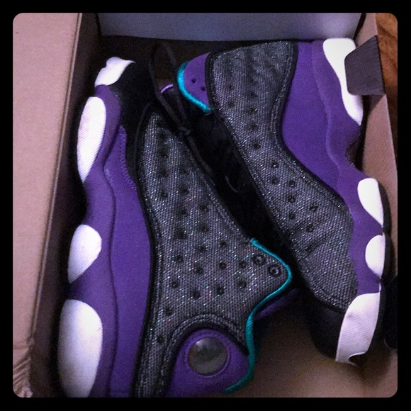 purple glitter jordans Shop Clothing